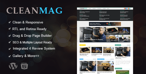 Cleanmag - Multipurpose Magazine WordPress Theme - News / Editorial Blog / Magazine
