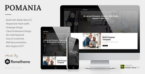 Pomania - Responsive Multipurpose Muse Template - Creative Muse Templates