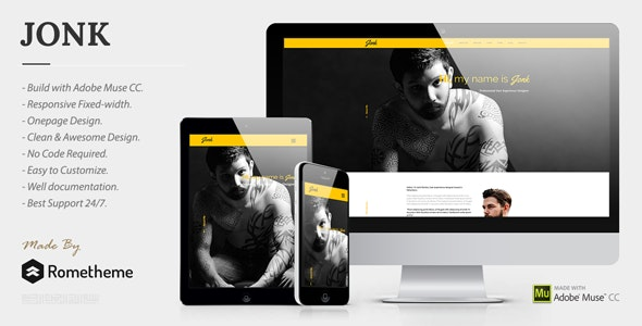 JONK - CV Resume Personal Muse Template - Personal Muse Templates