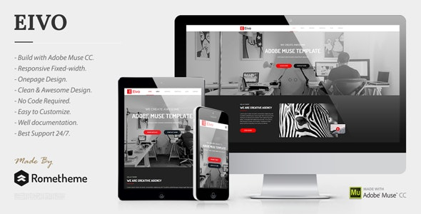 Eivo - Multipurpose Muse Template - Creative Muse Templates