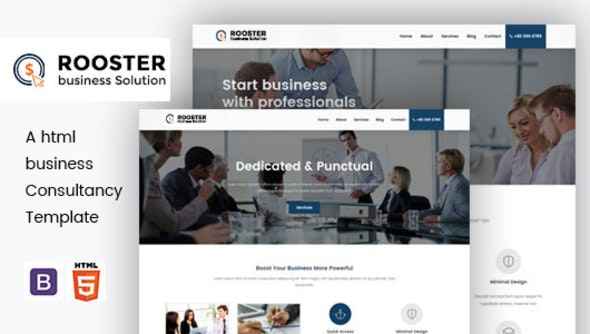 Rooster - HTML Business Consultancy Template - Corporate Site Templates