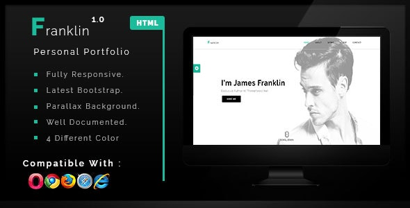 Franklin - Personal One Page Portfolio Template - Portfolio Creative
