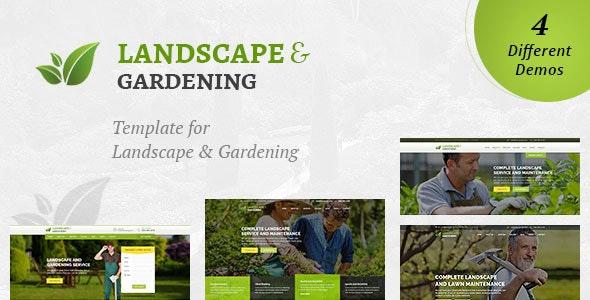 Landscaping Landscape Gardening Html Template By Designarc