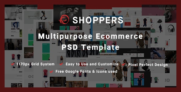 Shoppers - Multipurpose Ecommerce PSD Template - Shopping Retail