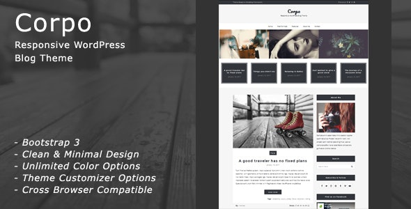 Corpo - Responsive WordPress Blog Theme - Blog / Magazine WordPress