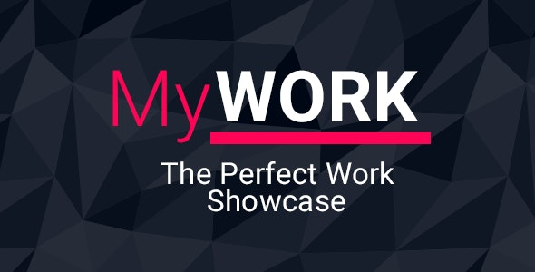 MyWork | Personal Work Showcase Template - Portfolio Creative