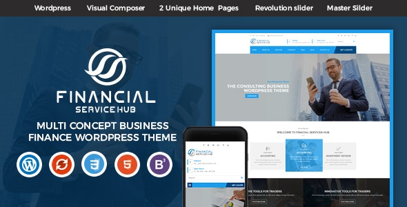 Financial Business Hub Corporate WordPress Theme - RTL by
