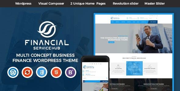 Financial Business Hub Corporate WordPress Theme - RTL