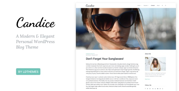 Candice - A Responsive WordPress Blog Theme - Personal Blog / Magazine