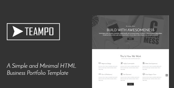 Tempo | One Page Business Portfolio HTML Template - Portfolio Creative