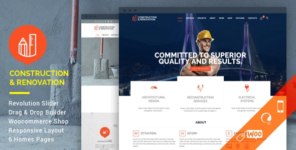 Construction - Building WordPress - Business Corporate