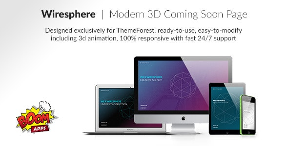 Wiresphere - Creative Coming Soon Template - Under Construction Specialty Pages