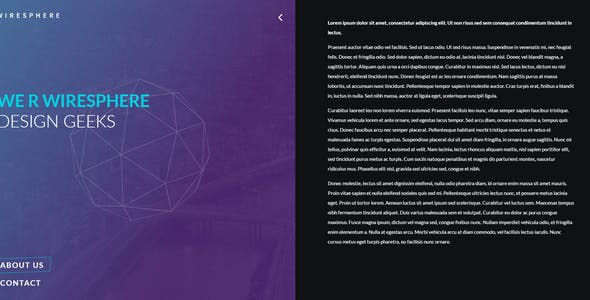 Wiresphere - Creative Coming Soon Template