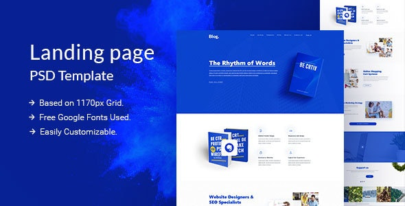 Blog PSD Template - Corporate Photoshop