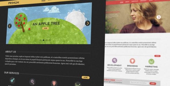 Primum PSD Template - Portfolio Creative