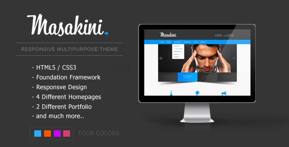 Masakini Multi-purpose Responsive HTML Template - Business Corporate