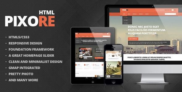 Pixore - Responsive Multi-Purpose HTML5 Template - Business Corporate