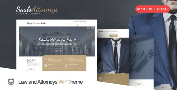 SaulsAttorneys - Law, Lawyer and Attorney WordPress Theme - Business Corporate