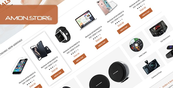 Amon - Multipurpose eCommerce PSD Template - Retail Photoshop