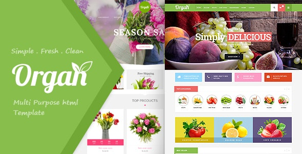Organ Food Store, Flower Shop Responsive HTML5 Template - Shopping Retail