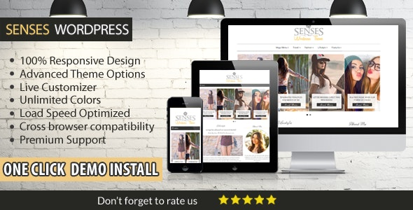 Senses Clean and Modern WordPress Theme - Blog / Magazine WordPress