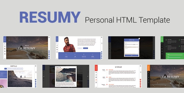 RESUMY - Personal HTML Template - Virtual Business Card Personal