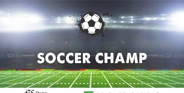 Football Champ Psd Template