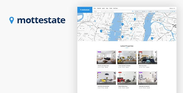 Mottestate - Real Estate PSD Template - Photoshop UI Templates