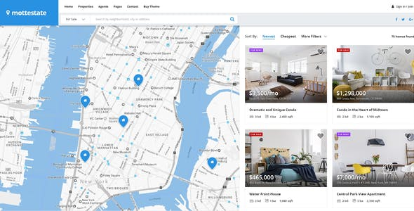 Mottestate - Real Estate PSD Template