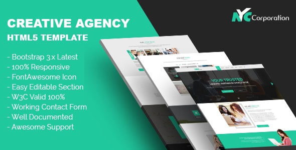 Creative Agency Bootstrap HTML5 Template - Creative Site Templates