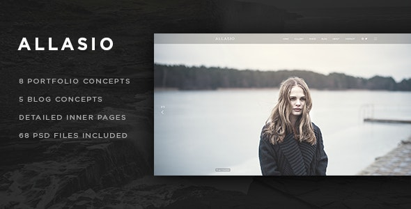 Allasio - Photography and Lifestyle Blog PSD Template - Photography Creative