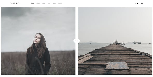 Allasio - Photography and Lifestyle Blog PSD Template