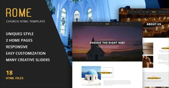 Rome - Church HTML Template - Churches Nonprofit