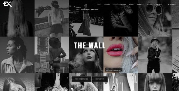The Wall || Photography Portfolio Template - Photography Creative