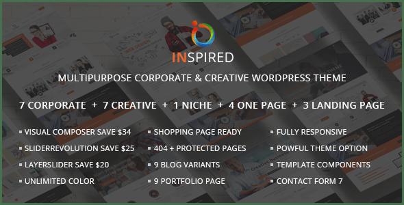 Inspired - Multipurpose Corporate and Creative Bootstrap WordPress Theme
