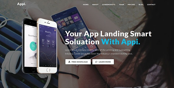 Appi - Responsive App Landing Page - Apps Technology