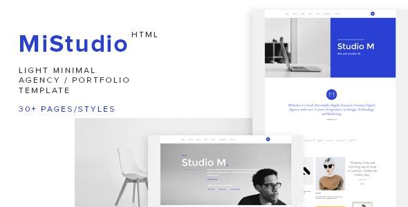 MiStudio - Light Minimal Agency/Portfolio Template - Creative Site Templates