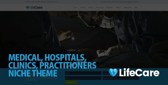 LifeCare - Responsive Medical WordPress Theme