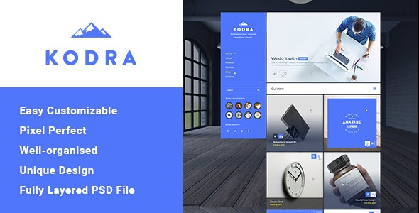 Kodra - Single Page PSD Template - Business Corporate