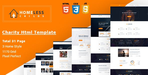 Homeless Childs - Charity HTML Template