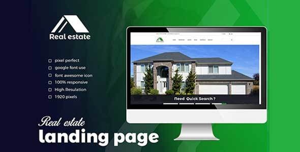Real estate Landing Page - Business Corporate