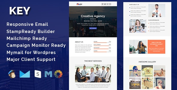 KEY - Multipurpose Responsive Email Template - Email Templates Marketing