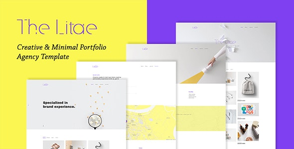 The Litae - Creative & Minimal Portfolio / Agency Template - Creative Site Templates