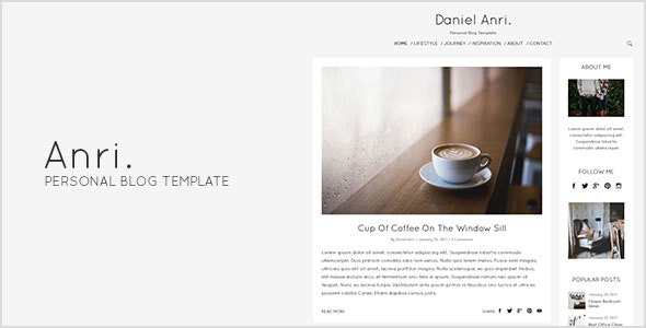 Anri - Personal Blog Template - Personal Site Templates