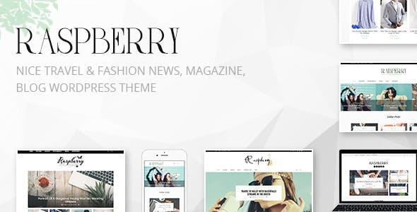 Raspberry: Travel & Fashion News, Magazine WordPress Theme