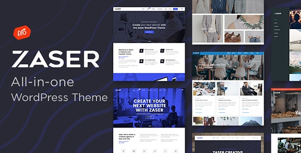 Zaser Pro | All-in-one WordPress Theme - Business Corporate