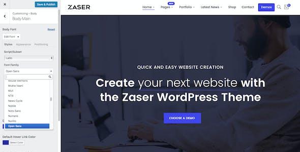 Zaser Pro   All-in-one WordPress Theme