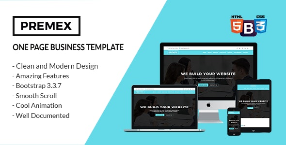 PREMEX - One Page Business Template - Site Templates