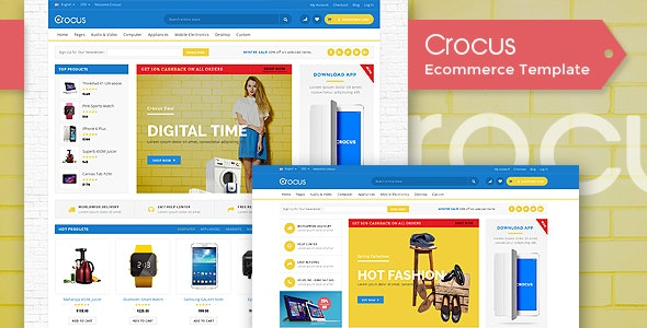 Crocus - Electronic HTML5 Template - Shopping Retail