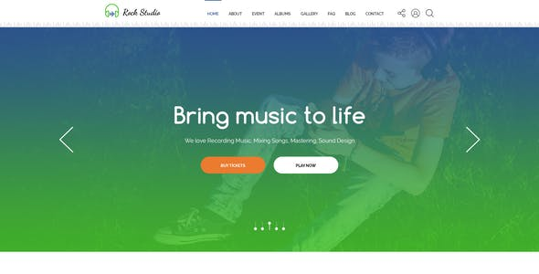 Event Rock Website Templates from ThemeForest